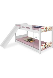 Beliche Baixa Adesivada Menina Moã§A Com Escorregador Casah - Branco/Multicolorido/Rosa - Dafiti