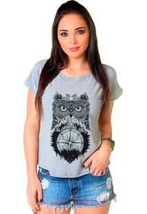 Camiseta Shop225 Tribal Coruja Mescla