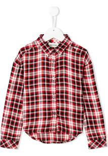 Zadig & Voltaire Kids Camisa Mangas Longas Xadrez - Vermelho
