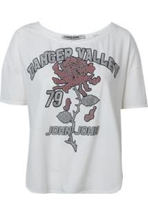Camiseta John John Valley Malha Off White Feminina (Off White, Gg)