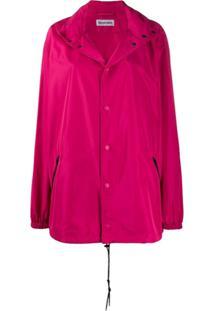 Balenciaga Jaqueta Corta Vento Com Capuz - Rosa