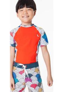 Camiseta Mini Sm Raglan Marola Reserva Mini Masculina - Masculino-Laranja