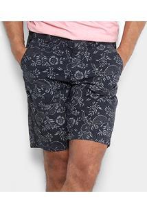 Bermuda Replay Sarja Floral Vintage Masculina - Masculino