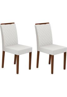Conjunto Com 2 Cadeiras Munique Amêndoa E Off White