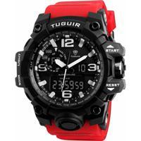 a1721649a04 Relógio Masculino Tuguir Anadigi Tg1155 P - Masculino-Preto+Vermelho
