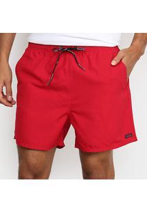 Bermuda Calvin Klein Básica Masculina - Masculino-Vermelho