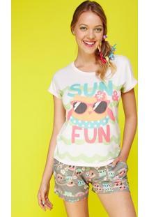 Pijama Curto Visco Coruja Summer