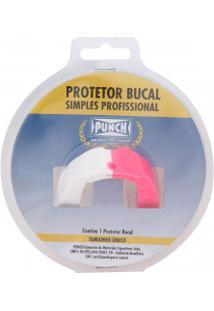 Protetor Bucal Punch Dual Color - Adulto - Branco/Rosa