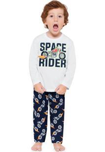Pijama Infantil Masculino Branco