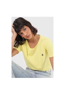 Camiseta Volcom Stoked On Stone Amarela