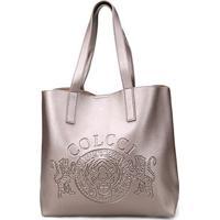 5701e8391 Bolsa Colcci Shopper Brasão Feminina - Feminino-Prata