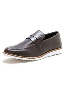 Sapato Oxford Form'S Modelo Esporte Fino Marrom