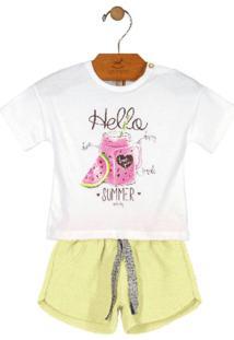 Conjunto Blusa E Shorts Summer Verde