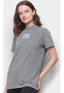 Camiseta Colcci Gola Fechada Feminina - Feminino-Chumbo