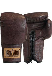 Luva Boxe Muay Thai Classic Couro Iron Arm - Masculino