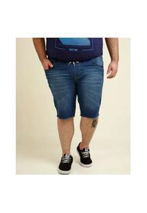 Bermuda Masculina Jeans Plus Size Barra Desfiada Razon