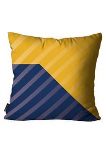 Capa Para Almofada Premium Cetim Mdecore Geométrica Colorida 45X45Cm Amarelo