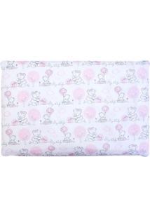 Travesseiro Papi Composê Antissufocante- Branco & Rosa Cpapi