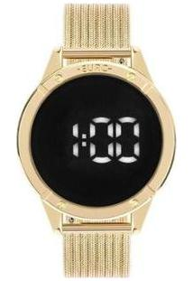 Relógio Feminino Euro Digital Eubj3912Aa/4F - Feminino-Dourado
