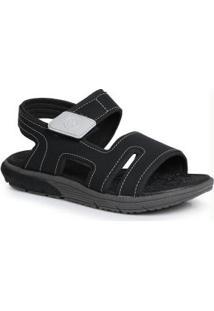 Sandália Infantil Velcro Preto