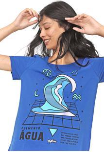 Camiseta Cantão Água Azul