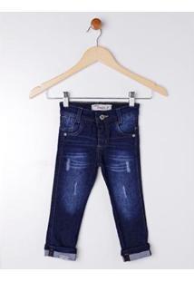 Calça Jeans Infantil Dudy'S Masculina - Masculino-Azul