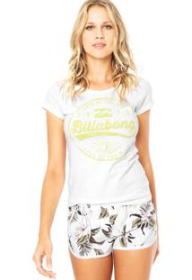 Camiseta Billabong Baby Look Sun Branca
