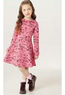 Vestido Rosa Godê Com Strass