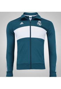 Jaqueta Real Madrid 3S Adidas - Masculina - Azul Esc/Branco
