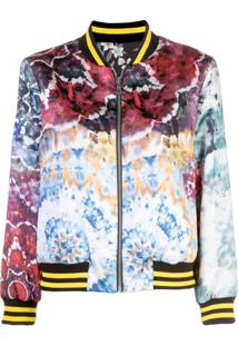 Alice+Olivia Jaqueta Bomber Tie Dye 'Lonnie' - Estampado
