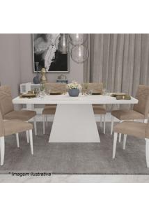Conjunto De Mesa & Cadeiras Helen- Branco & Caramelocimol