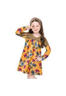 Vestido Infantil Nanai Amarelo