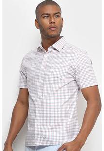 Camisa Xadrez Vr Masculina - Masculino-Laranja