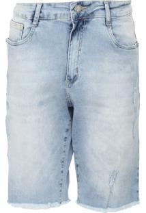 Bermuda Jeans Aeropostale Reta Desfiada Azul - Kanui
