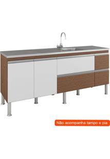 Balcão De Cozinha Prisma 3 Pt 3 Gv Amêndoa E Branco