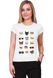 Camiseta Criativa Urbana Gatos Branca - Tricae