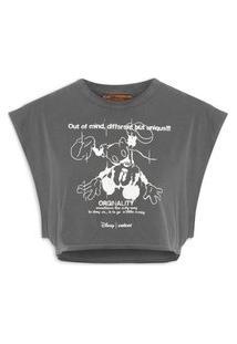Camiseta Feminina Estampada - Cinza