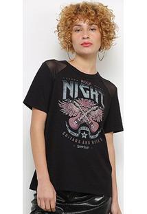 Camiseta Colcci Tule Guitarra Feminina - Feminino