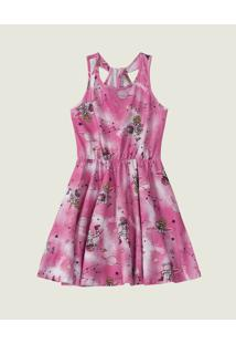 Vestido Curto Barbie® Astronauta Menina Malwee Kids Rosa Claro - 8