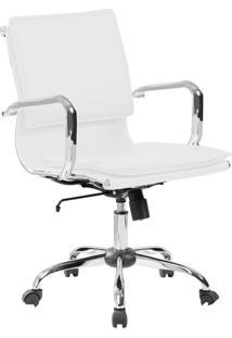 Cadeira De Escritório Diretor Giratória Eames Comfort Branca