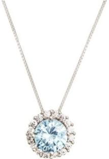 Colar Le Diamond Agua Marinha Azul