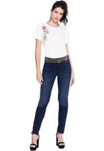 Camiseta M.Officer Feminina - Feminino-Branco