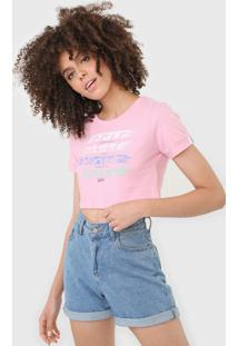Camiseta Cropped Tricats Self Love Rosa