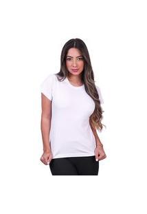 Tshirt Basica Algodão Camisa Lisa Feminina
