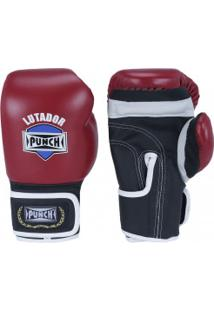 Luvas De Boxe Punch Amador - 8 Oz - Adulto - Vermelho