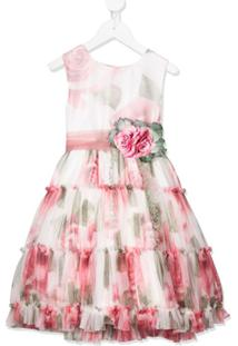 Mimilù Vestido De Festa Floral - Rosa