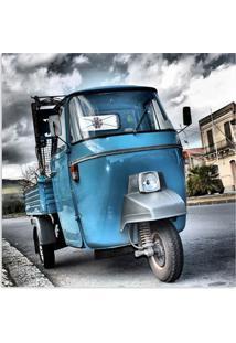 Quadro Romiseta Uniart Azul 45X45Cm