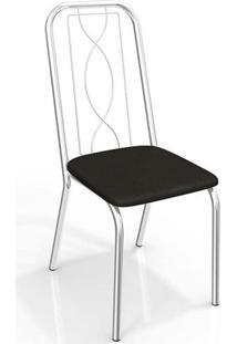 Conjunto 4 Cadeiras Viena Crome 4C072Cr-110 Preto - Kappesberg