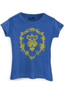 Camiseta Bandup World Of Warcraft Aliança - Feminino-Azul