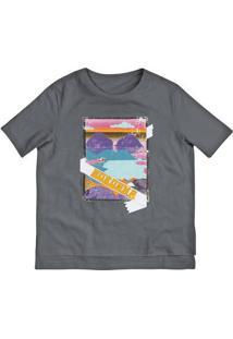 T-Shirt Mullet Em Malha De Algodão Com Estampa
